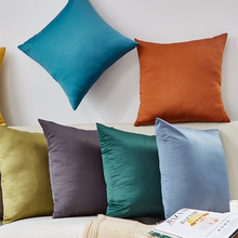 CANIRICA Decorative Pillows Silk Cushion Cover 45x45cm Living Room Home Decor Pillow Cover Sofa Bedroom Fundas Cojin Decoration soft decorative pillows pillow case square home decor velvet cushion cover for living room bedroom sofa living room decoration