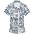 M-5XL 6XL 2016 Summer Phoenix floral mens negro camiseta de manga corta para hombre camisa hawaiana Corea flor de seda para hombre G0217