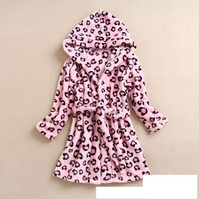Crianças de varejo Pijamas robe Roupões Bebê homewear Meninos meninas Dos Desenhos Animados Início desgaste Dos Desenhos Animados Robe roupão de banho de algodão