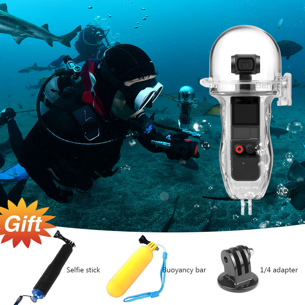 In Stock DJI Osmo Pocket Dive Case 60m Diving House Protective Shell Camera Waterproof House OSMO