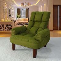 Japanese Style Upholstery Furniture Leg Wood Finish Linen Fabric Sofa Armchair Design Living Room Modern Relax