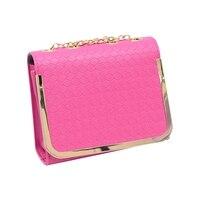 Women S Candy Color Handbag Vintage Fashion One Shoulder Small Bag PU Leather Bags Women Messenger