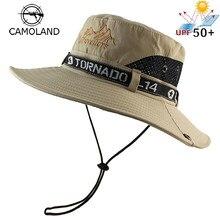 3e38afcbab1328 UPF 50+ Sun Hat Bucket Summer Men Women Fishing Boonie Hat Sun UV Protection  Long Large Wide Brim Mesh Hiking Outdoor Beach Cap