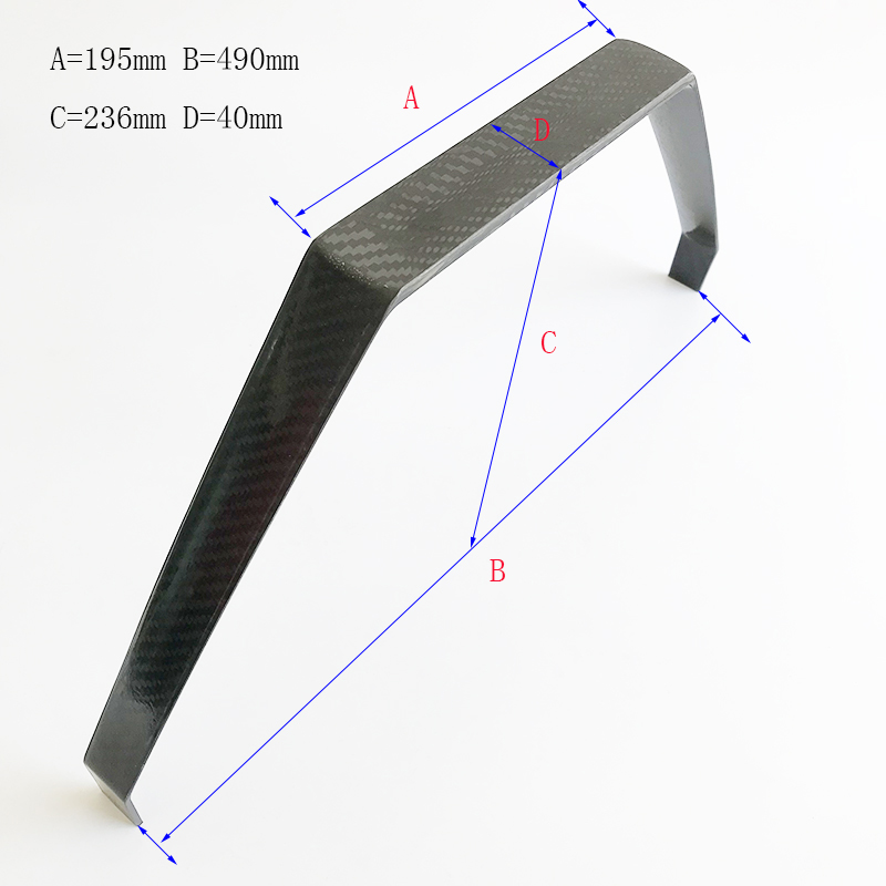 Aircraft Accessary 1 Piece Carbon Fiber Undercarriage Gas Airplane Landing Gear For Extra 260 50CC RC Airplane 195*490*236*40mm