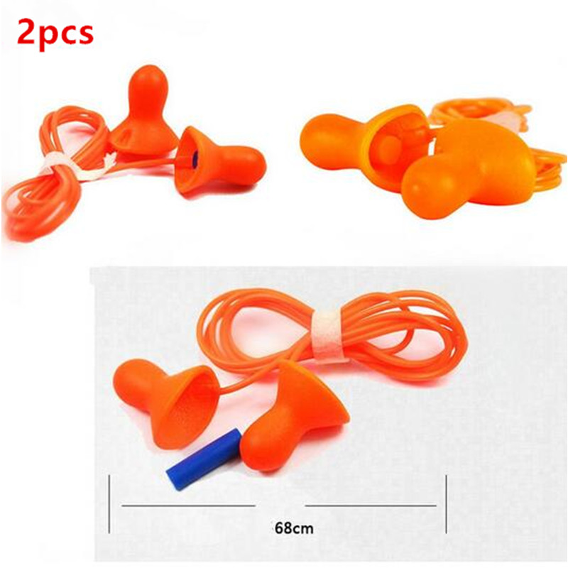 2PCS Authentic Silicone Earplug Anti Noise Sleeping font b ear b font font b protector b