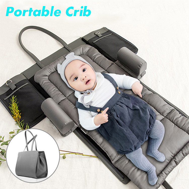Portable Crib Nursery Travel  Baby Bed Folding Bag Infant Toddler Cradle Washable Multifunction Storage Handbag For Baby Care