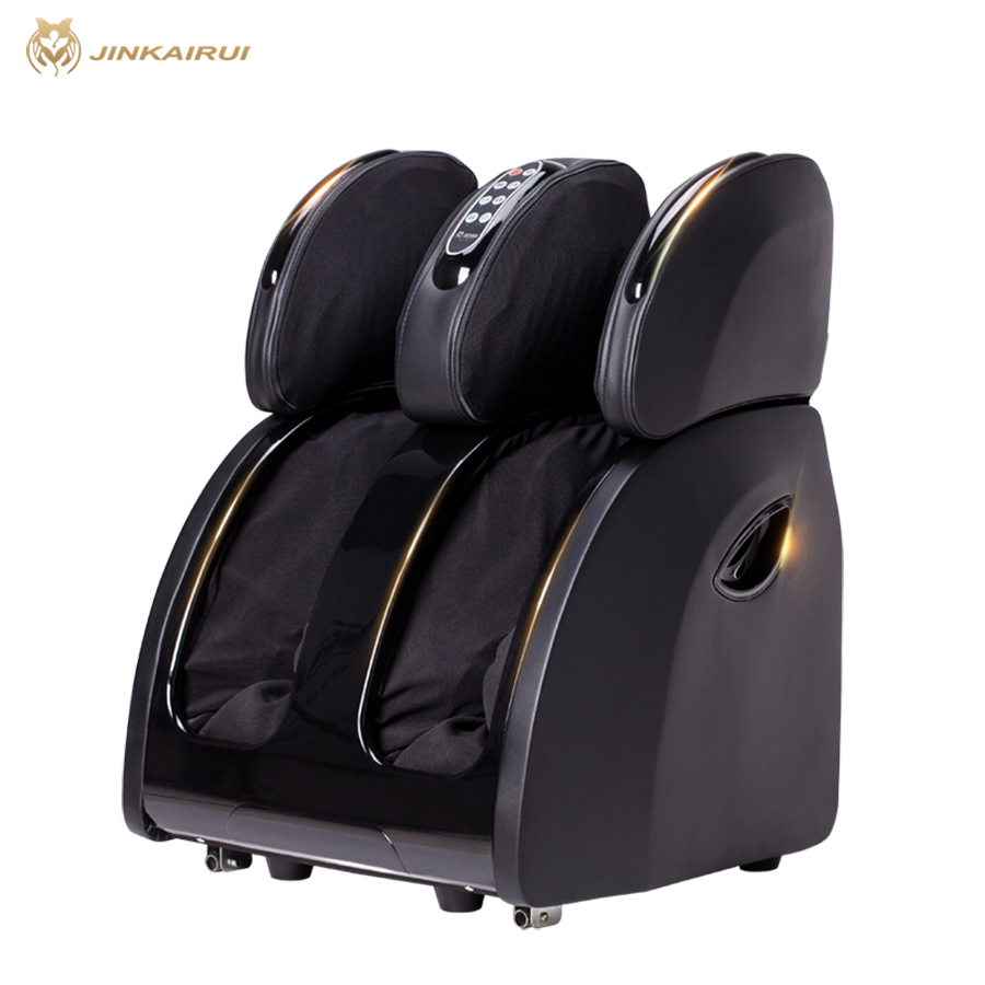 JinKaiRui Household Electric Foot Massager Circulation Massage Airbags Heat Leg Machine Massj Reflexology Health Care Spa foot machine foot leg machine health care antistress muscle release therapy rollers heat foot massager machine device feet file