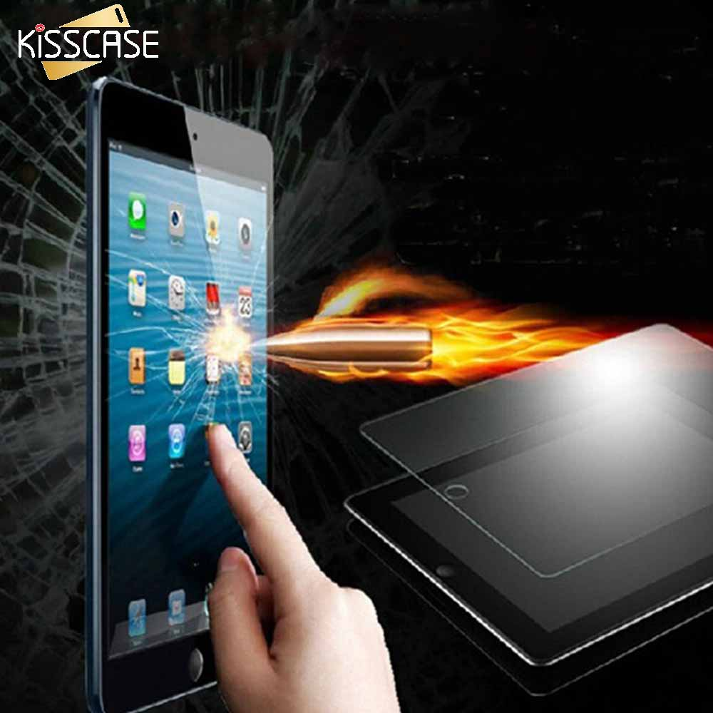 KISSCASE HD Slim tempered Glass Screen Protector For iPad Air For iPad Air 2 Clear Slim Protective Film Hard Cover For iPad 5 6 original homtom ht3 pro package gift tempered glass film protective cover