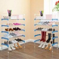 Heißer Verkauf Schuhregal Einfach Montiert Kunststoff Mehrere schichten Schuhe Regal Veranstalter Ständer Halter verstellbare schuhständer