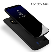 For Samsung Galaxy S8 Battery Case 5000mAh Portable Charging Case for Galaxy S8Plus + Protective Extended Power Bank Battery