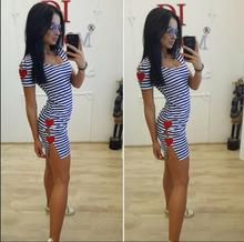 2017 Summer Europe US New Tide Women black white stripe Casual dress Sexy Split Fashion Long Party Club female Clothes Harajuku