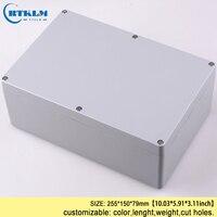 Aluminum enclosure housing pcb case IP68 waterproof junction box diy power amplifier diy instrument project box 255*150*79mm