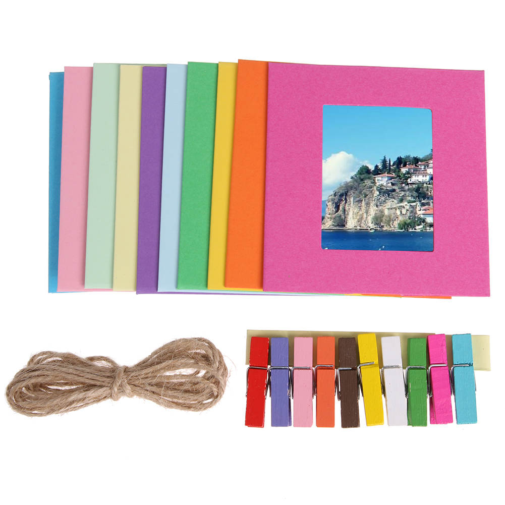3inch 5inch diy photo wall ten color paper hanging album for Diy colored paper