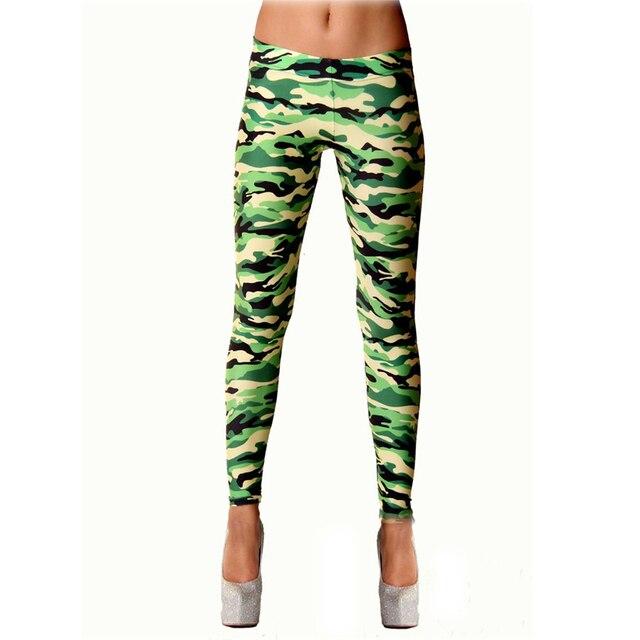 Сексуальный Эластичный Леггинсы Брюки Камуфляж Slim Fit Женская Мода Леггинсы Тощие Камуфляжные Штаны Все Соответствует Плюс Размер Для Женщин