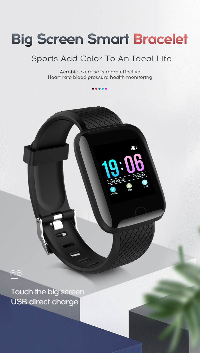 2019 D13 Smart Bracelet Fitness Tracker Heart Rate Blood Pressure Monitor Smart Band Ip67 Waterproof Sports For Android Ios+box Digital Watches Watches