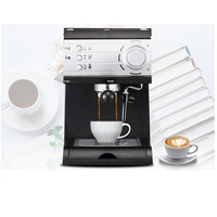 DMWD 1.5L Italian Espresso Coffee Maker Electric Coffee Machine Cappuccino Milk Frothers Foamer High Pressure Steam 20BAR 220V