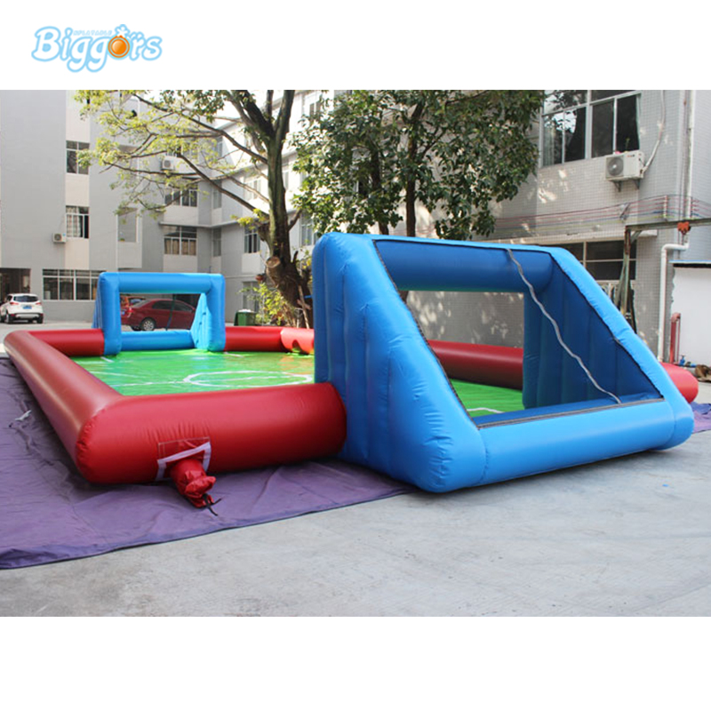 Wholesale Price Inflatable Football Pitch Inflatable Soccer Field Soccer Court Soapy Stadium kids play game inflatable football pitch inflatable soccer field for sale