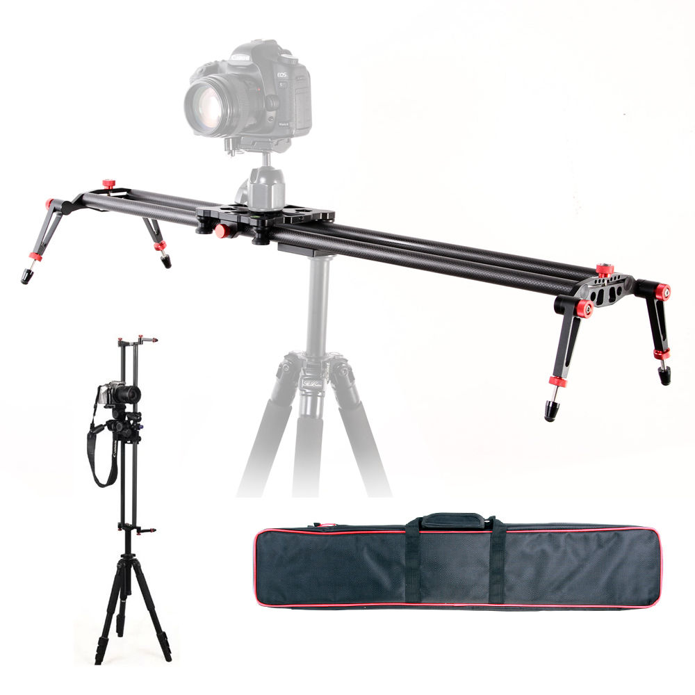 80cm 32 SLR Camera Dolly Track Slider Video Stabilizer Carbon Fiber Rail System