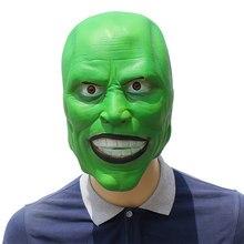 Máscara de cosplay de jim carrey, fantasia de halloween adulto, látex, adereço para festa