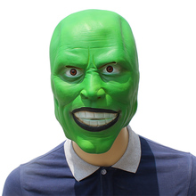 Latex Mask Costume Movie Jim Carrey Scary Party Halloween Props Adult The Toy Dress Fancy