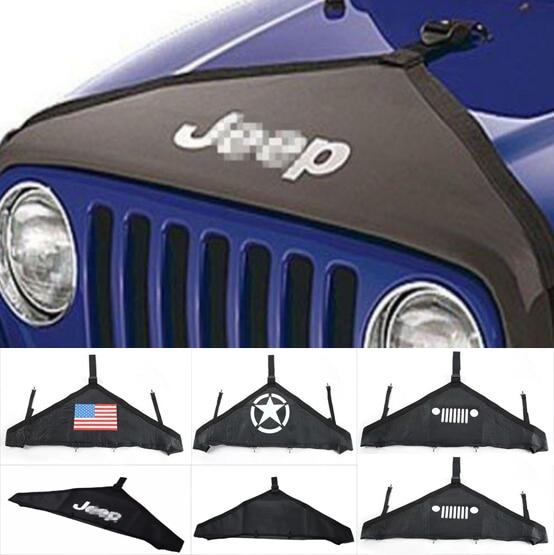 Новинка, защитный чехол для капота переднего торца, V-образный виниловый черный (1 шт.) для Jeep Wrangler JK 07 Up Rubicon Sahara-бесплатная доставка