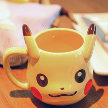 Anime Pokemon Coffee Mugs Pocket Monsters Pikachu Mugs Ceramic Cup