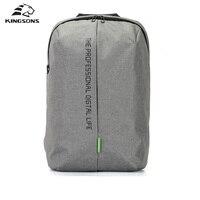 Kingsons Backpacks Notebook 15.6 inches Men Women Laptop Bag Antitheft Mochila Waterproof School Backpack for Teenage Boys Girls