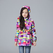 Waterproof Windproof Children Outerwear Baby Girls Jackets Children Kids Coat Warm Polar Fleece Winter Autumn Spring For 3-12T