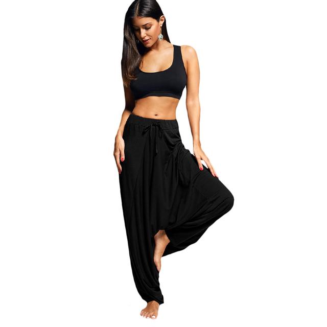 Pantalones sueltos de yoga con cordón