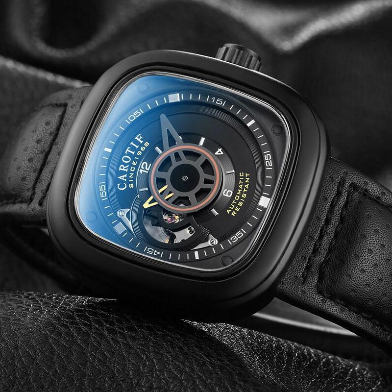 Carotif casual δερμάτινα μηχανικά ρολόγια - Ανδρικά ρολόγια - Φωτογραφία 4