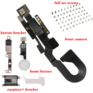 Image 2 - 6 stks/set Voor iPhone8 8 Plus volledige set schroeven + home button key + ear speaker + front camera flex kabel + metalen beugel