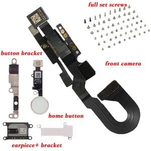 Image 2 - 6 sztuk/zestaw dla iPhone8 8 Plus pełny zestaw śruby + przycisk home klucz + głośnik do ucha + z przodu przewód do aparatu kabel + wspornik metalowy