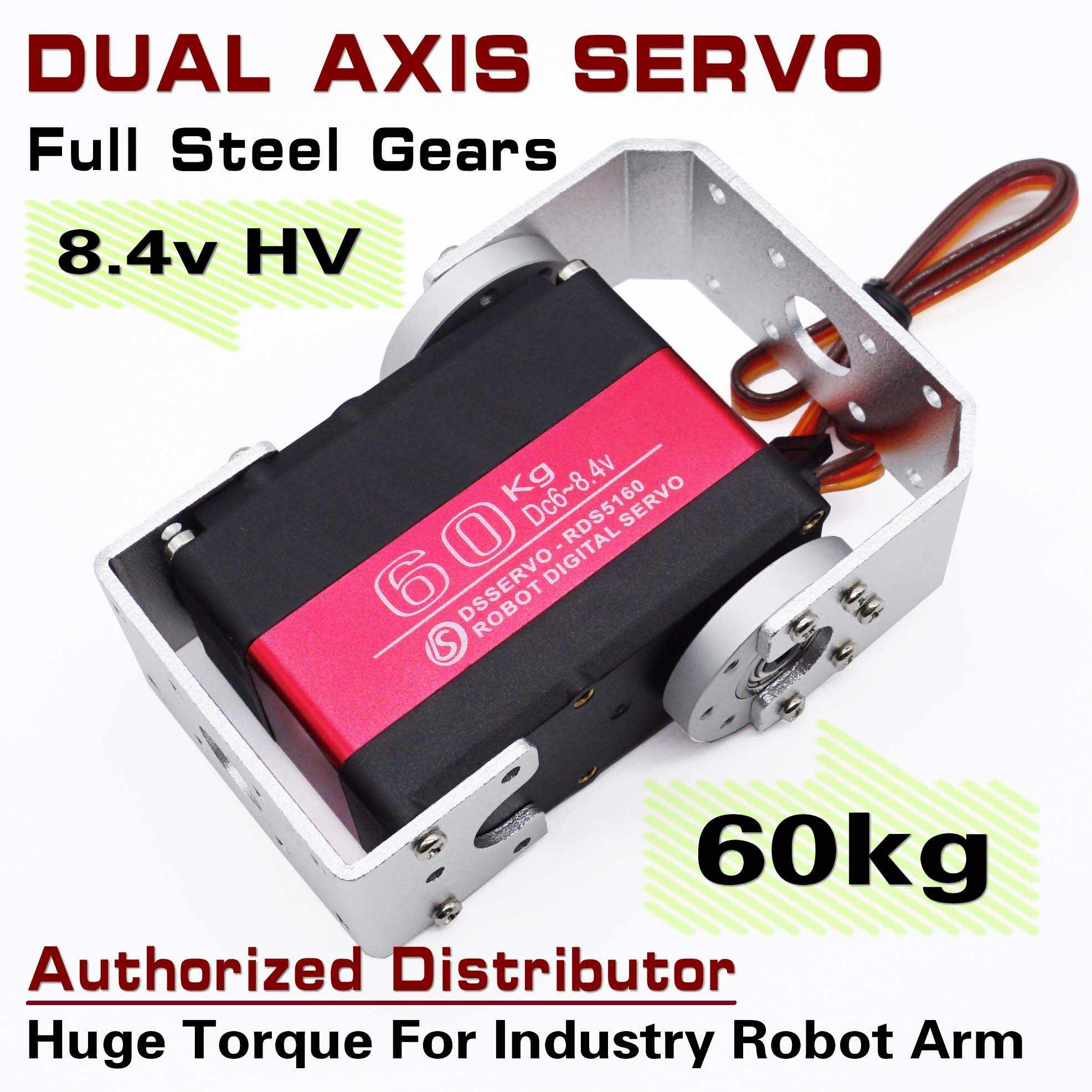 DSSERVO RDS5160 60kg Dual As As Servo Metal Gear Arduino Robot Servo Digitale Servo Voor Robot Arm DIY FPV servo Robotic