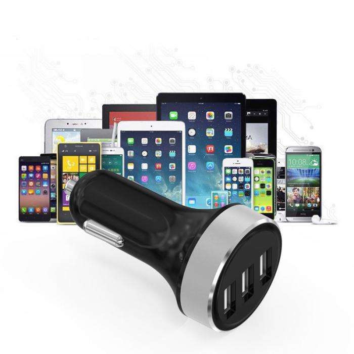 1 * Портативный 3 Порты и разъёмы зарядка через USB 3.1A автомобиль USB Зарядное устройство адаптер с ЖК-дисплей Экран Дисплей для <font><b>Smart</b></font> Мобильные те&#8230;