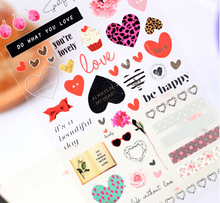 Novelty Leopard Heart Decorative Sticker Diary Album Label Sticker DIY Scrapbooking Stationery Stickers Escolar