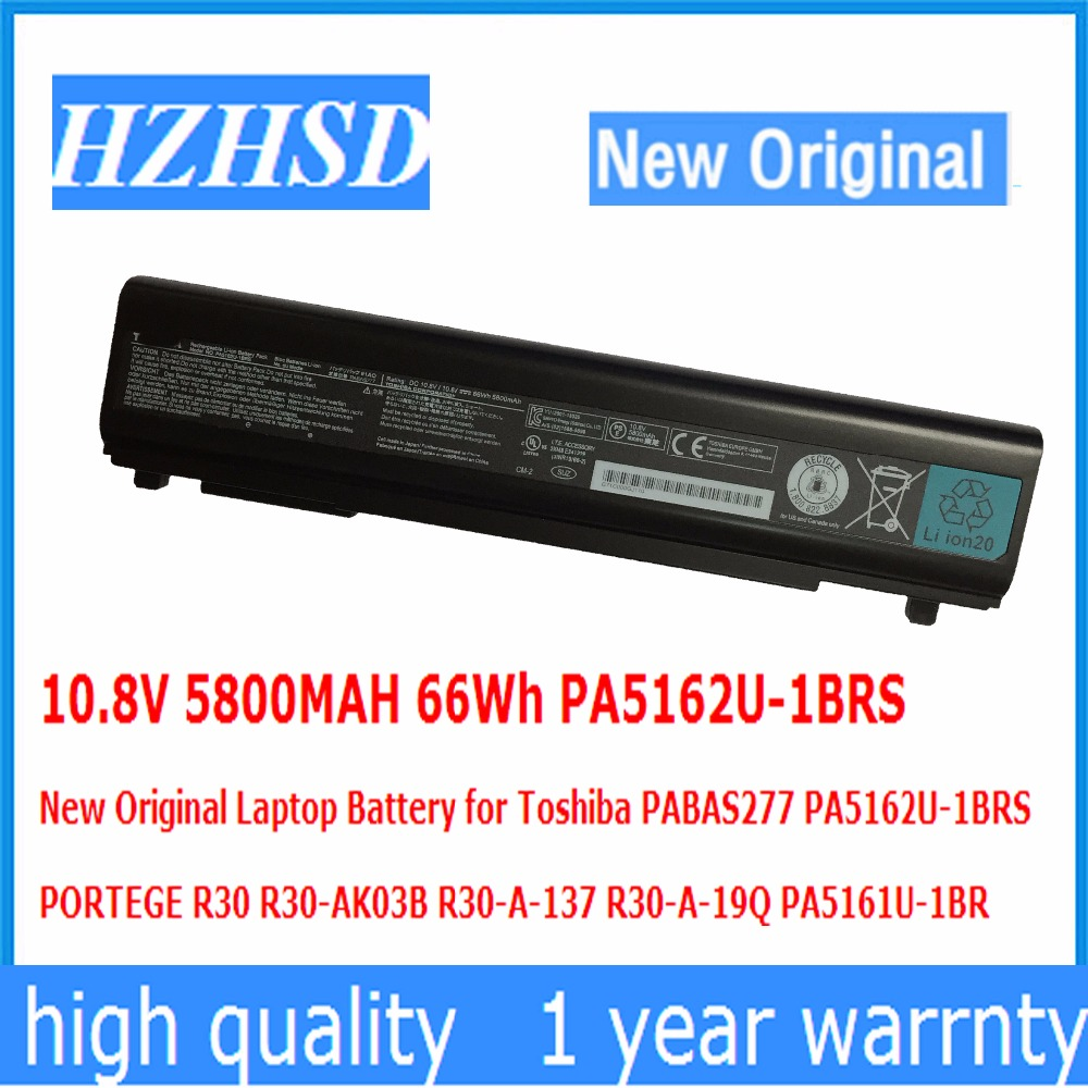 10.8V 5800MAH 66Wh PA5162U-1BRS New Original Laptop Battery for Toshiba