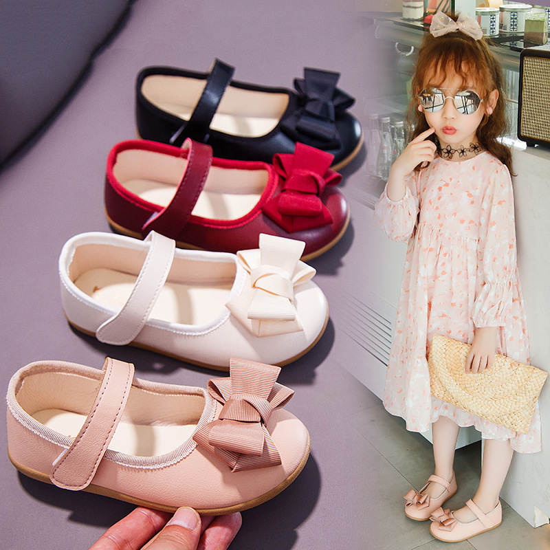 Toddler Kid Girl Classic Casual Bow Princess Mary Jane Flat Dress Shoes