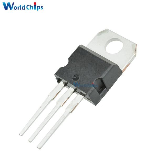 10 unids LM7805 L7805 7805 regulador de voltaje de IC 5 V 1.5A a-220