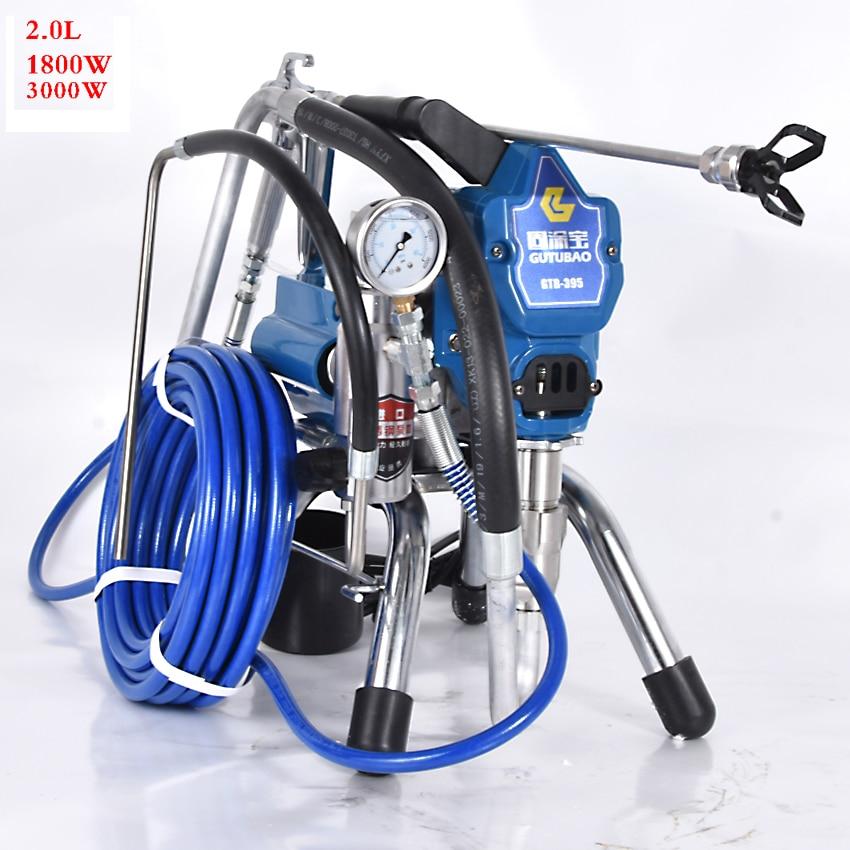 цена на 395 Airless Paint Sprayer Professional Airless Spray Gun High Pressure Airless Painting Machine Spraying 220V