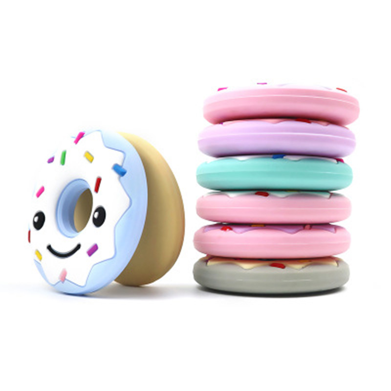 Teether Help Baby Teeth Grow Nursing Silicone Donut Ring Round Smily Face BPA Children Toys in Baby Teethers from Mother Kids