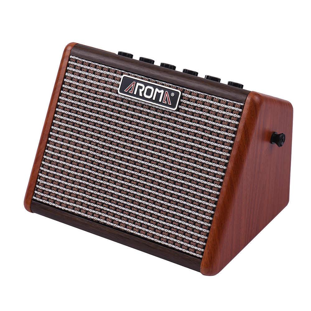 Аромат AG-15A 15 Вт Портативный акустический гитарный усилитель BT динамик Встроенный перезаряжаемый аккумулятор с соединение микрофона