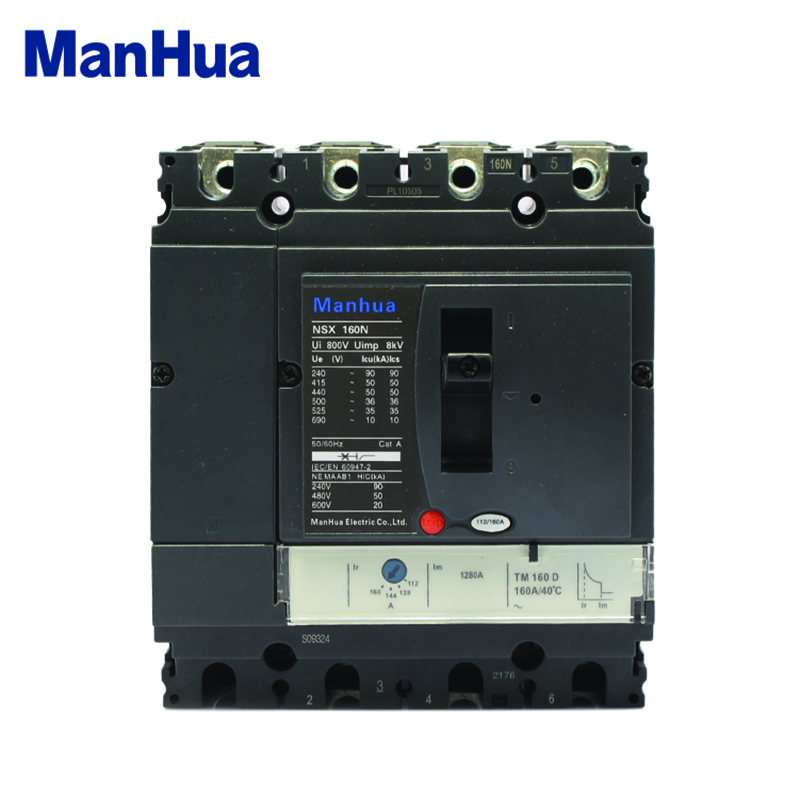 Manhua 160A NSX160N  Short Circuit Prote Overload Protection Molded Case Circuit BreakerManhua 160A NSX160N  Short Circuit Prote Overload Protection Molded Case Circuit Breaker