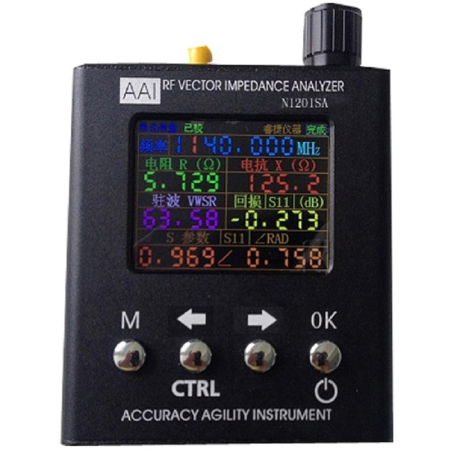 Analizator SWR Anteny N1201SA stoi-fala tester miernik Talent instrumentu Analizator Impedancji 140 M ~ 2.7 GHz