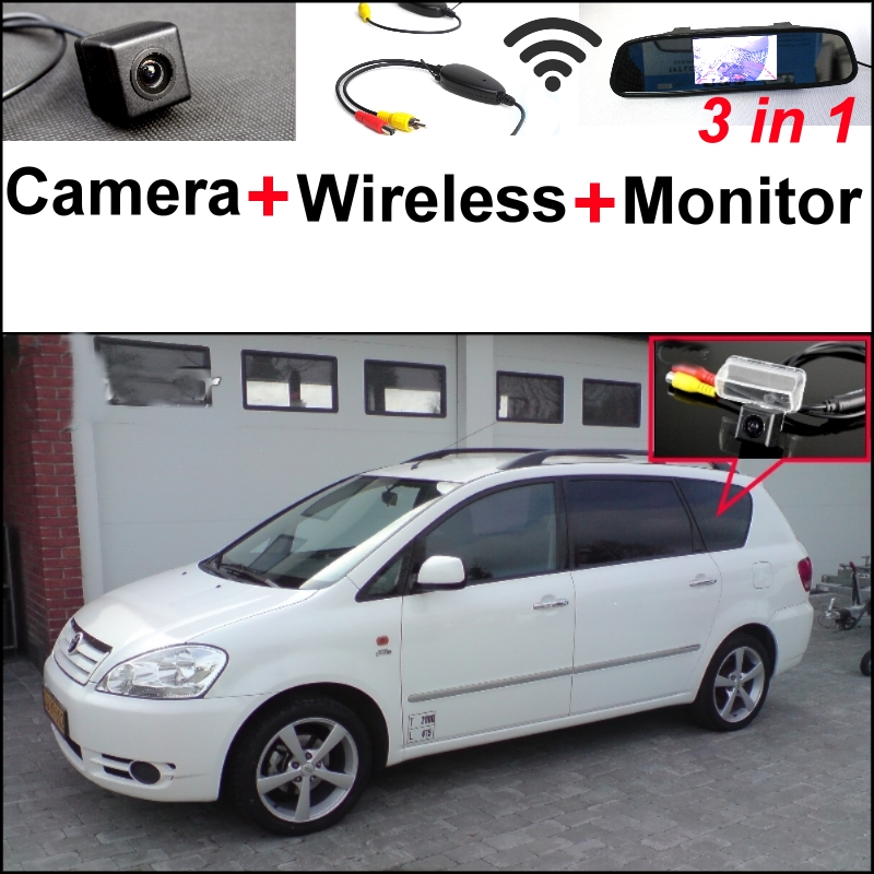Wireless Receiver + Mirror Monitor DIY Back Up Parking System + For TOYOTA Sportsvan 3 in1 Special Rear View Camera