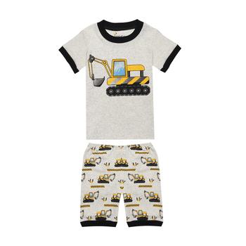 Chłopcy koparka piżamy lato piżamy dla dzieci chłopcy lato piżamy dźwig samochodowy wóz strażacki piżamy dla dzieci piżamy dla chłopców bielizna nocna ubrania tanie i dobre opinie Little Bitty COTTON Casual CG14 Czesankowej Cartoon Krótki REGULAR 2T-3T-4T-5T-6T-7T-8T O-neck Pasuje mniejszy niż zwykle proszę sprawdzić ten sklep jest dobór informacji