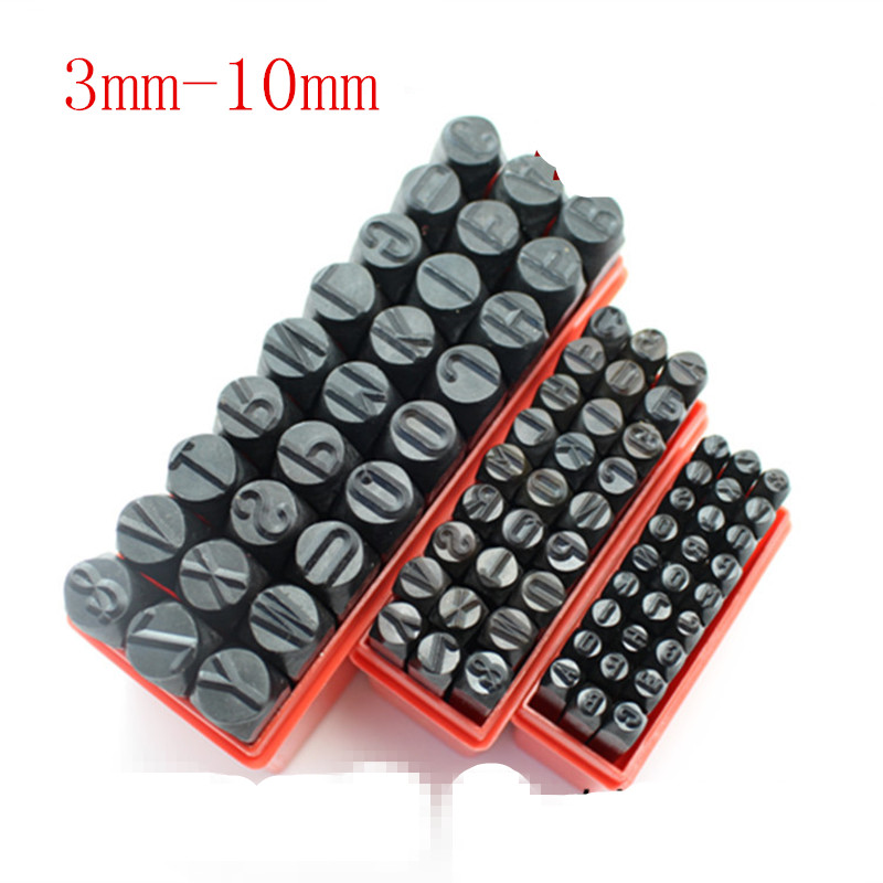 3 10mm alphabet numer die punch letter steel stamp in case for jewelers set metal diy handmade vegetable tanned leather a z