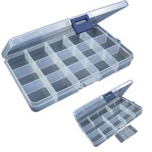 Przenośny 15 slotów regulowany przynęty wędkarskie pole przynęta Minnow przynęty hak Tackle Box magazyn Case Organizer wielofunkcyjny 2018 tanie tanio A04R10 CHAMSGEND Plastikowe Ocean Skały Fshing 17 5cmX9 8cmX2 3cm