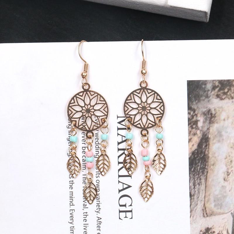 Bohemian Tibetan Tassel Beads Drop Dangle Earring Vintage Indian Long Gypsy Ethnic Pendant Earrings Jewelry Wedding Brincos in Drop Earrings from Jewelry Accessories