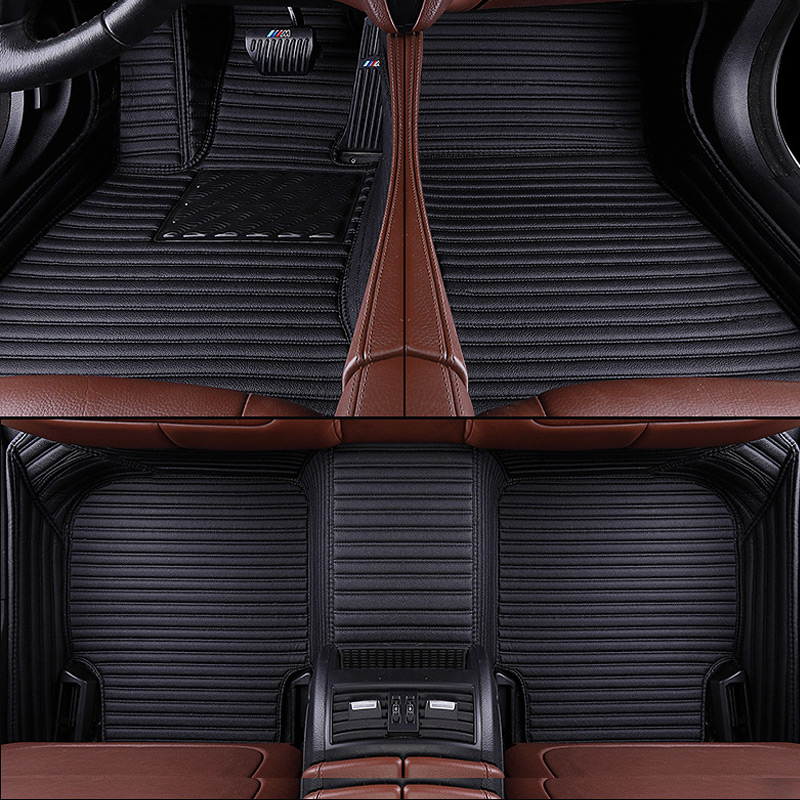 Custom Aviation Leather car floor mats for Bmw X5 X6 E53 E70 2013 2014 2016 2017 18 auto foot Pads automobile carpet in Floor Mats from Automobiles Motorcycles