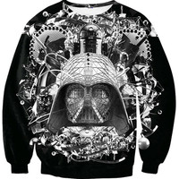 Fashion Hoodies Star Wars B W Crewneck Sweatshirt Darth Vader Sweats Spring Autumn Winter Jumper Pullover